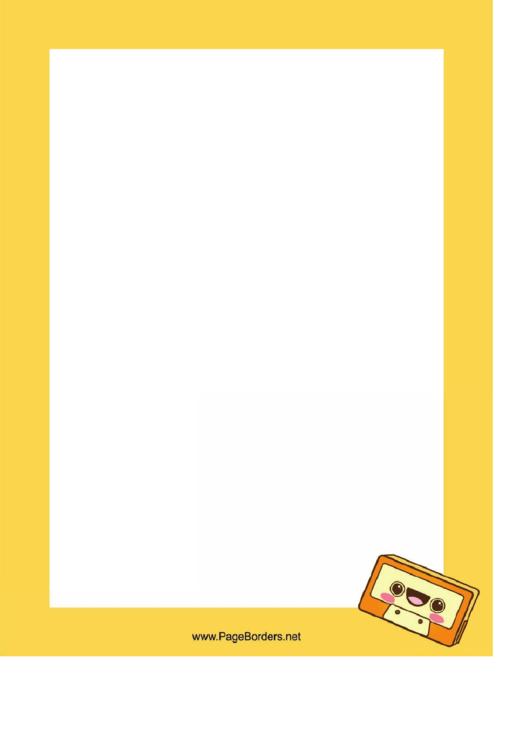 Cassette Tape Border Printable pdf