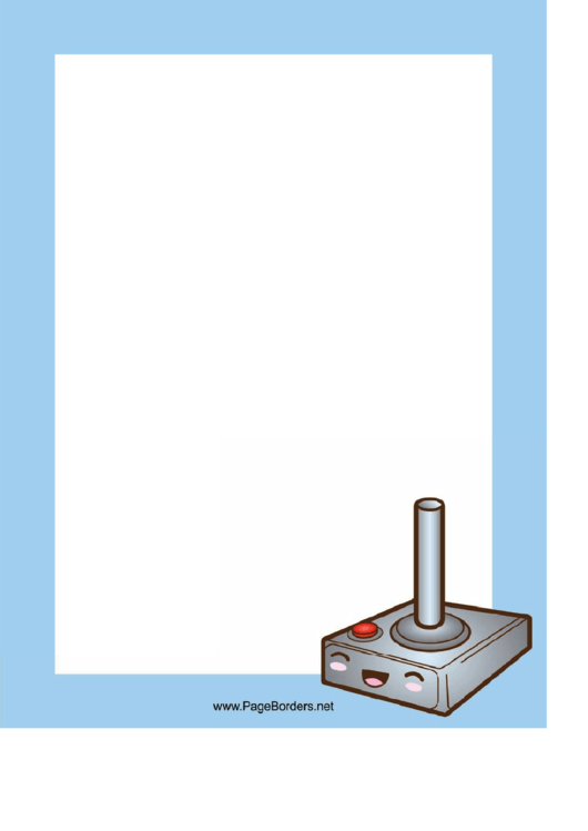 Joystick Border Printable pdf