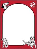 Dalmatian Dog Red Border