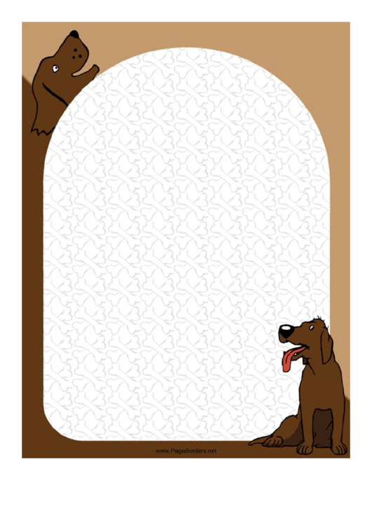 Happy Dog Border Printable pdf