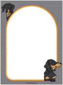 Dachshund Dog Border