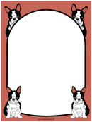 Boston Terrier Dog Border