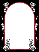 Dalmatian Dog Border