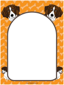 Brown And White Dog Border