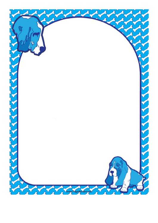 Basset Hound Dog Border Printable pdf