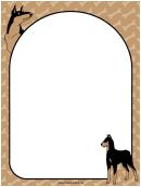 Doberman Dog Border
