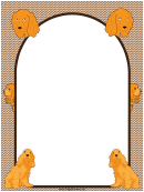 Golden Cocker Spaniel Dog Border