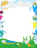 Cute Insect Border
