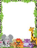 Cute Jungle Animal Border