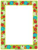 Flower Frame Border