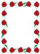 Rose Page Border Template