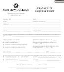 Transcript Request Form Motlow State Community College
