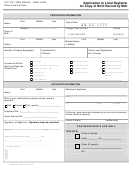 Form Lb-296a-m - Application To Local Registrar For Copy Of Birth Record By Mail - City Of Long Beach
