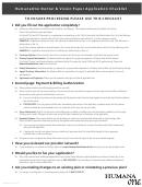 Form Il-71096 Nf - Humanaone Dental - Vision Paper Application Checklist