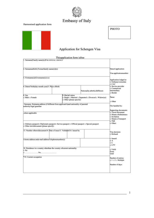 page_1_thumb_big Visa Application Form For Schengen Italy on united states visa application form, italy visa application form online, italy business, italian visa application form, italy tourist visa, uk visa application form,