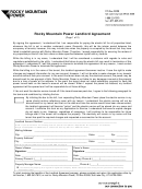 Landlord Interim Billing Agreement Form - Rocky Mountain Power