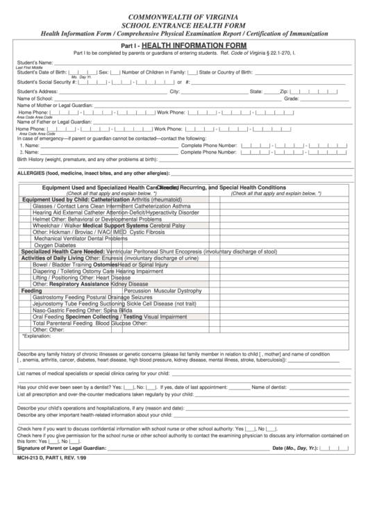 Top 17 Virginia School Physical Form Templates free to download in ...