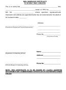 Non-marriage Certificate Form