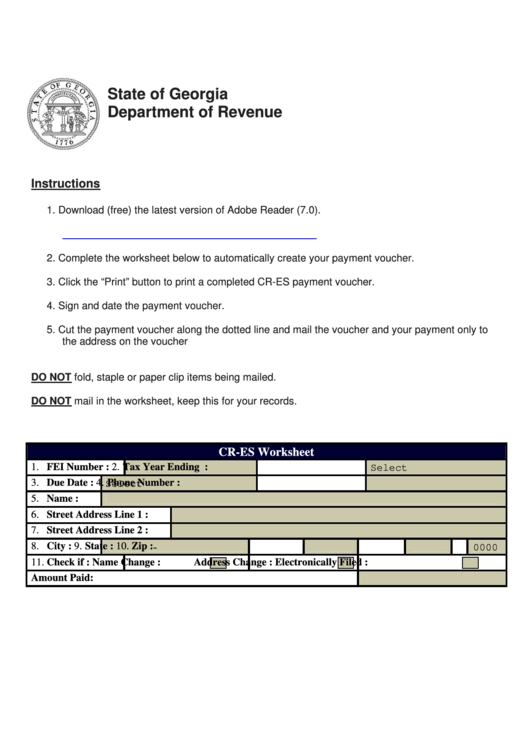 Top Georgia Estimated Tax Form Templates free to download in PDF ...