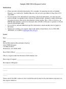 Sample Fbi Foia Request Letter Template