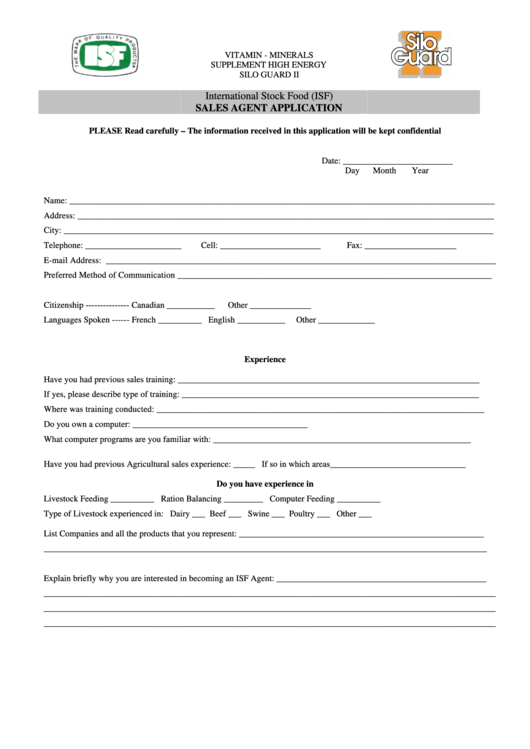 Top 5 Isf Form Templates free to download in PDF format