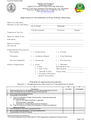 Form Dtl-coa-af-2007 - Application For Accreditation Of Drug Testing Laboratory