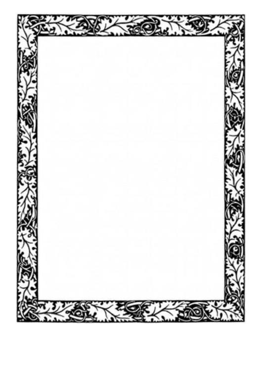 Oak Leaves Border Printable pdf