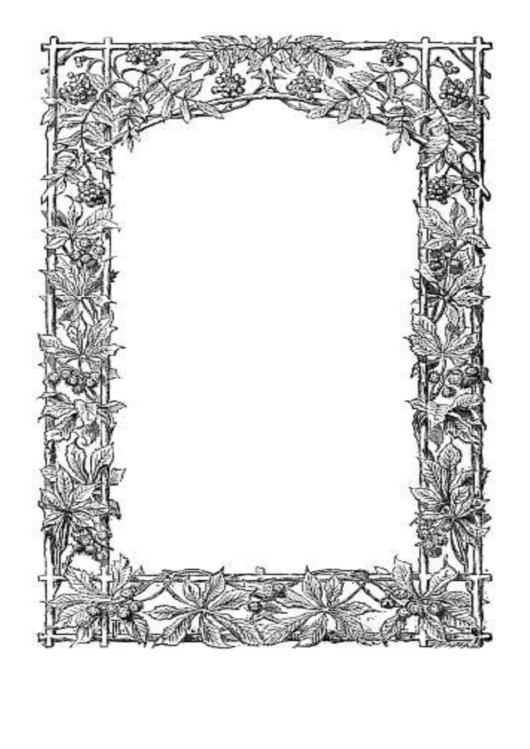 Trellis Border Printable pdf