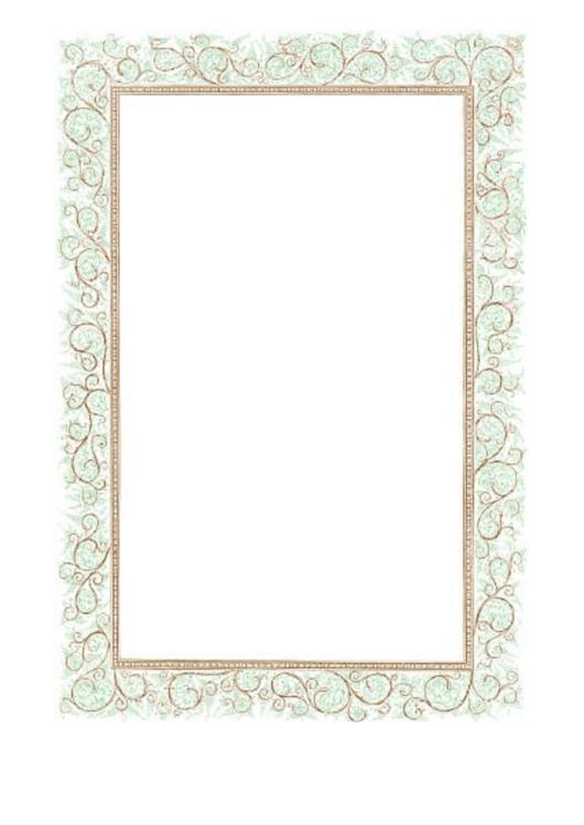 Floral Green Brown Border Printable pdf