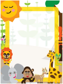 Jungle Creatures Border