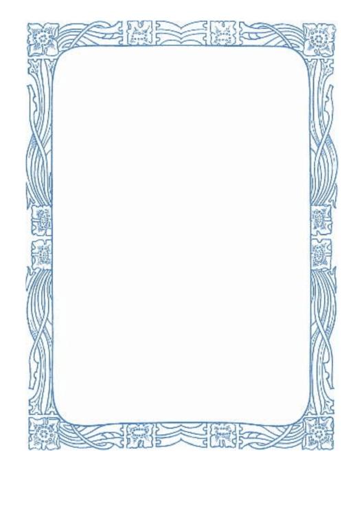 Stylized Rose Border Printable pdf