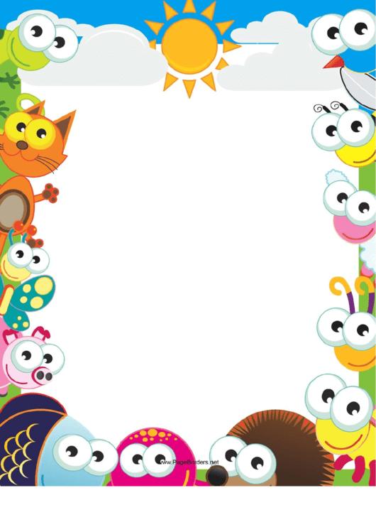 Cute Afternoon Border Printable pdf