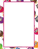 Cute Owl Border