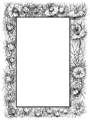 Downy Page Border Template