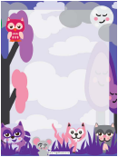 Forest Creatures Border