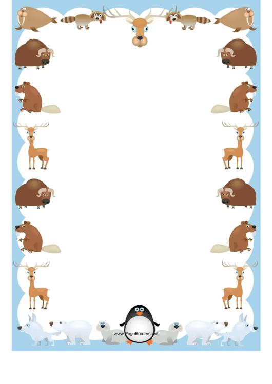 Animals Border Printable pdf
