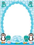 Polar Aquatic Creatures Border
