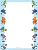 Sea Animals Border