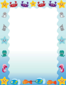 Cute Ocean Animal Border