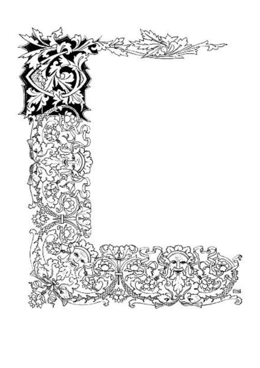 Three Sides Border Printable pdf