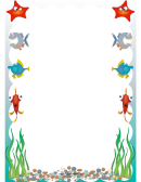 Fish Page Border Template