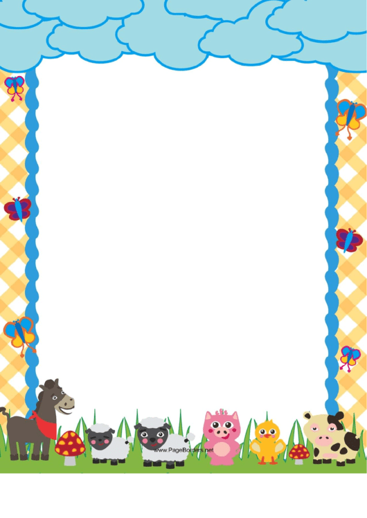 Cute Farm Border Printable pdf