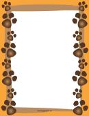 Dog Paw Print Border