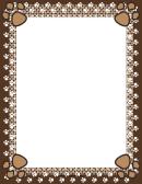 Brown Paw Print Border