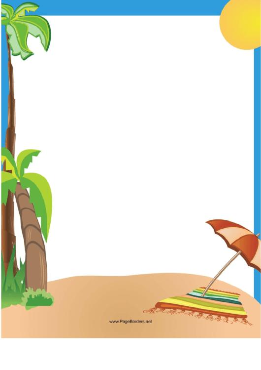 Tropical Border Printable pdf