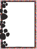 Black Paw Print Border