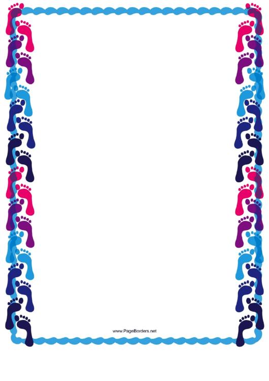 Cool Footprint Border Printable pdf