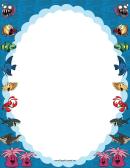 Ocean Animals Border