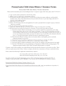 Pennsylvania Child Abuse History Clearance Forms