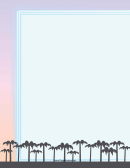 Palm Trees Border